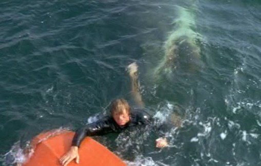 Jaws-1 man in the pond jaws underwater 1975